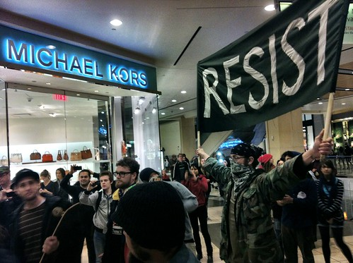 Occupying Westfield mall few minutes ago #occupysf #ftp #oo #ows