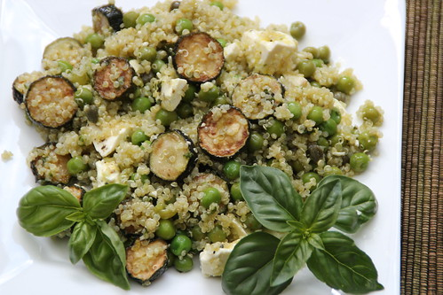 Fried Zucchini, Pea & Quinoa Salad 2