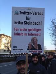 STOP ACTA Dortmund: Twitter-Verbot für Erika Steinbach