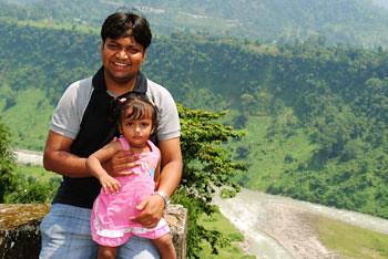 Myself and Rianna at Dalong view point