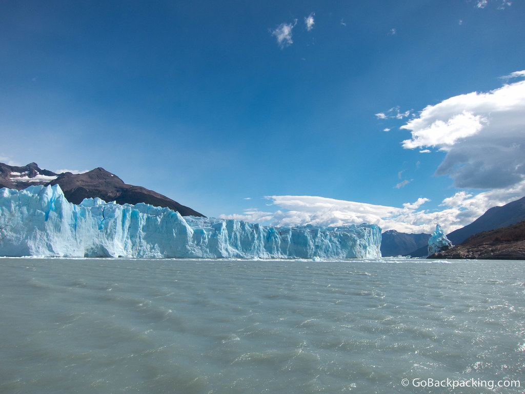 A view toward the ice bridge, which once connected the glacier to land. It underwent a monumental collapse the week before we arrived.