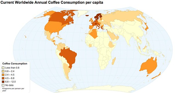 The World'S Coffee Drinkers: Coffee Consumption By Country