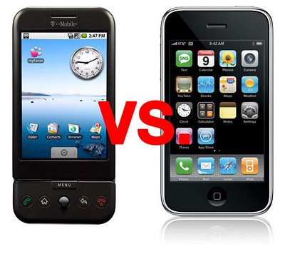 Android vs iPhone apps