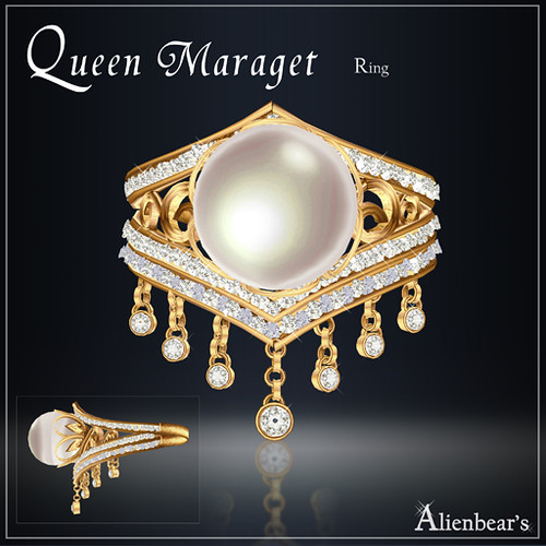 Maraget ring gold white