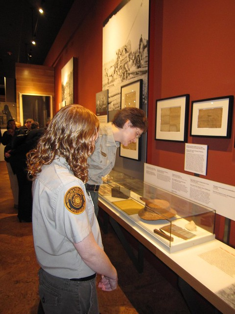 Sarah Lankford and Kandace McCabe toured the exhibits.