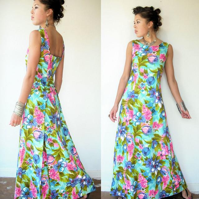 floral hawaiian dress