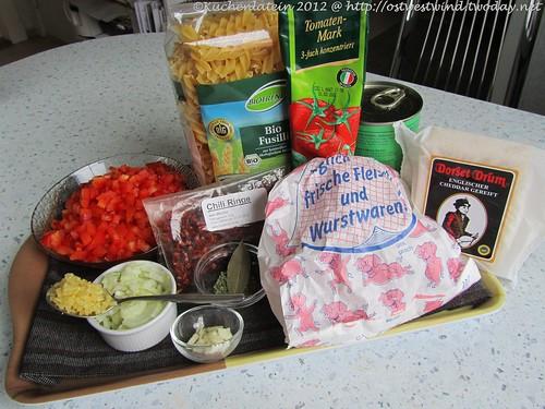 Zutaten Ofen-Chili mit Fusilli