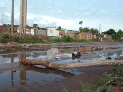 Drainage systems in Mozambique's capital Maputo struggle to cope with rivers flowing into the city and high rainfall that leave streets flooded. Credit: Johannes Myburgh/IPS