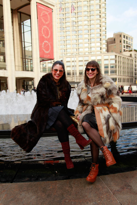 2furs daniella and alex nyfw mbfw street fashion style
