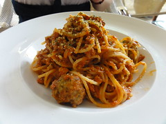 Spaghetti and Meatballs at Levain Boulangerie & Patisserie