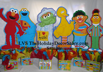 Personalized Sesame Street Birthday Party Elmo Cookie Monster Supplies Centerpieces Handmade Polka Dots Table Topper 1st Blue Decorations