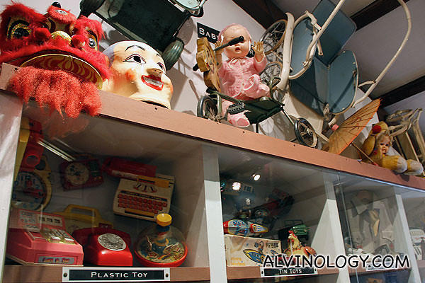 Lion dance heads and other toys and props
