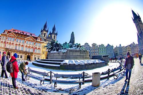 Prague Staroměstské náměstí 28 Jan Hus Memorial
