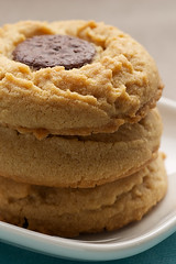 Peanut Butter Cookies with Chocolate Wafers