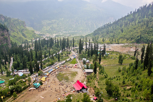 A view from the top of Solang valley