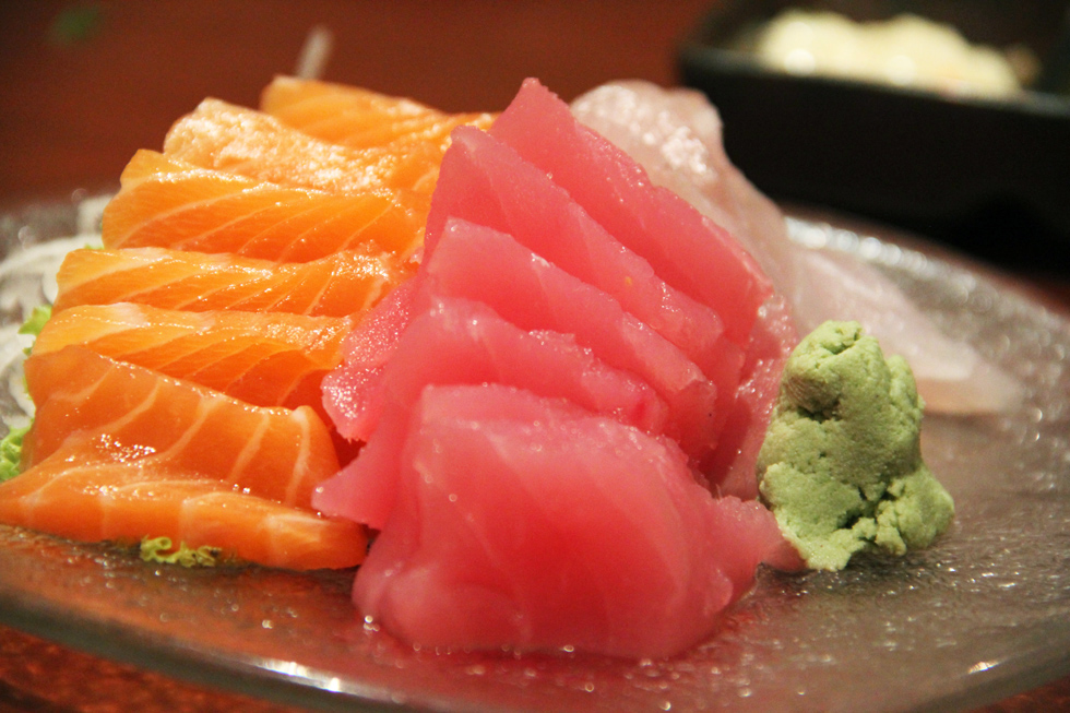 It doesn't get much better than a plate of fresh sashimi!