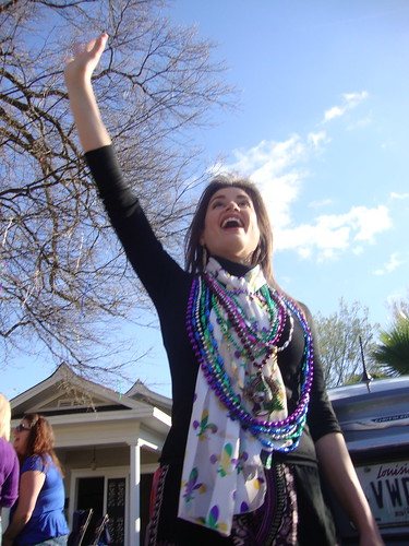 Blanc et Noir Marching Society, Krewe of Highland Parade, Shreveport: Alexandra Cranford by trudeau