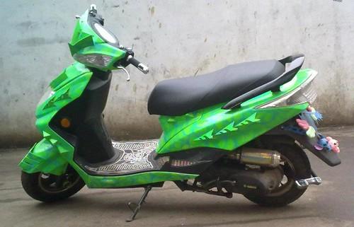 Green Hornet Motorbike