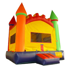 orange, playhouse, outdoor play equipment, play, inflatable,