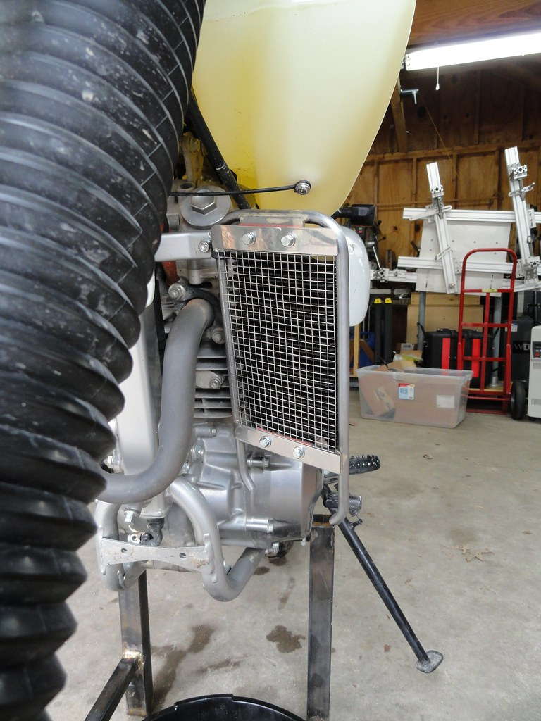 Xr650l Oil Cooler : Xr l oil cooler power outlet page adventure rider