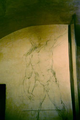 Michelangelo Buonarroti's Sketch, Cappelle Medicee, Sacrestia Nuova, San Lorenzo, Firenze _ 0294 _ 500