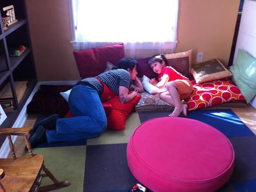 Finn and Teacher Sahar in a secret meeting