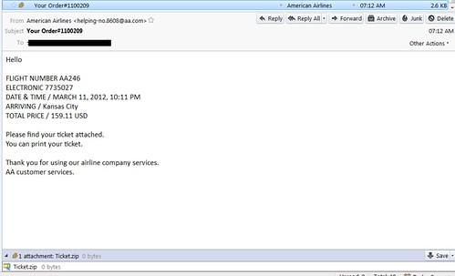 phishing aa email