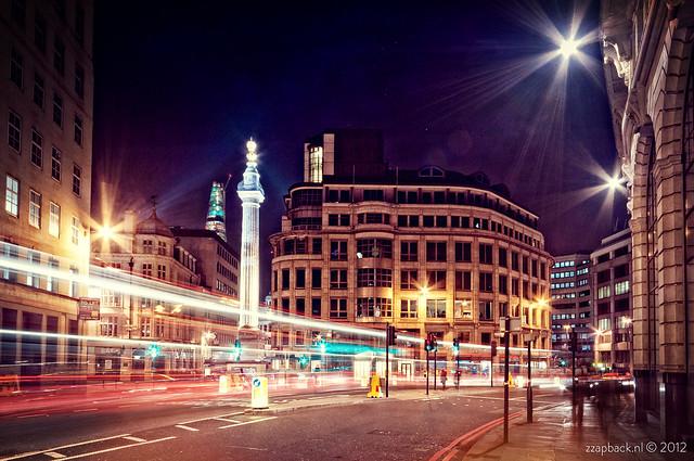 City Lights / Gracechurch St / Monument / London