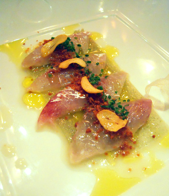 Second Course - Fluke Sashimi with Dried Miso