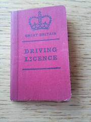 My Fathers old driving licence.