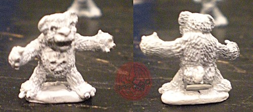 "Dark Horse Miniatures :: TEENAGE MUTANT NINJA TURTLES - ""The Terror Bears"" { 15 mm } / FEAR BEAR i  (( 1986 ))"