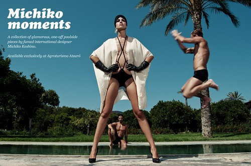 Michiko Koshino - White Ibiza Style Watch Hair & Make Up By Smack Ibiza