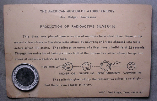 Oak Ridge Irradiated Dime card