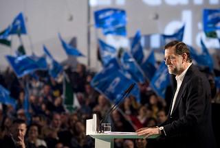 Rajoy en un mitin en Andalucia