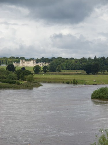 Floors Castle, View from Rennie's Bridge
