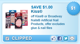 Kiss Or Broadway Nails Artificial Nail Products, Offer Excludes Glue & Nail Files Coupon