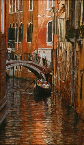 "Venice oil sketch 19¾"" x 11½"""