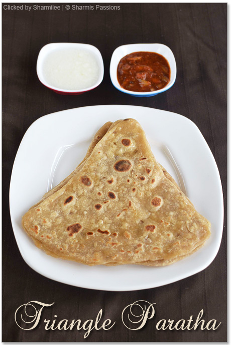 Triangle Paratha / Triangle Roti Recipe