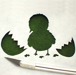 Stenciled Chick Thumbnail