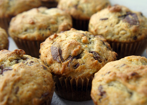 Banana Chocolate Peanut Butter Muffins!