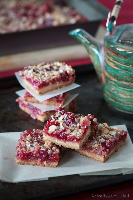 Cranberry Crumble Bars Stacked