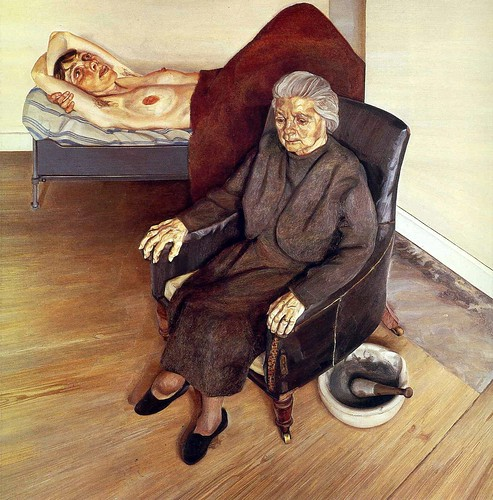 Lucien Freud - Large Interior, London W.9 [1973] by Gandalf's Gallery