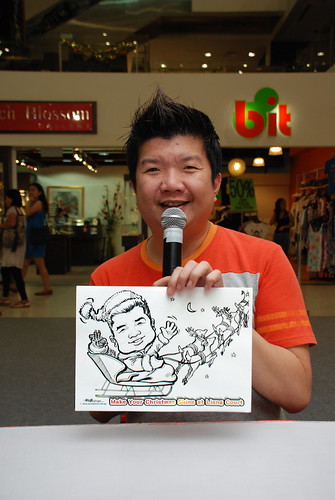 "caricature live sketching for ""Make Your Christmas Shine at Liang Court"" - 1"