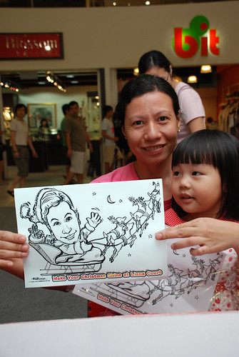"caricature live sketching for ""Make Your Christmas Shine at Liang Court"" - 8"
