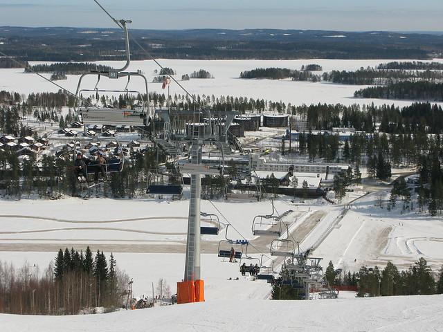 Una estación de ski finlandesa