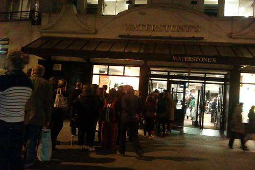 Queue for Bob & James Book Signing - Waterstones Islington