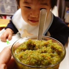 とらちゃんと朝ジュース(2012/3/20)