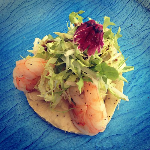 Wild prawn salad with artichoke cream and tarragon, il lido