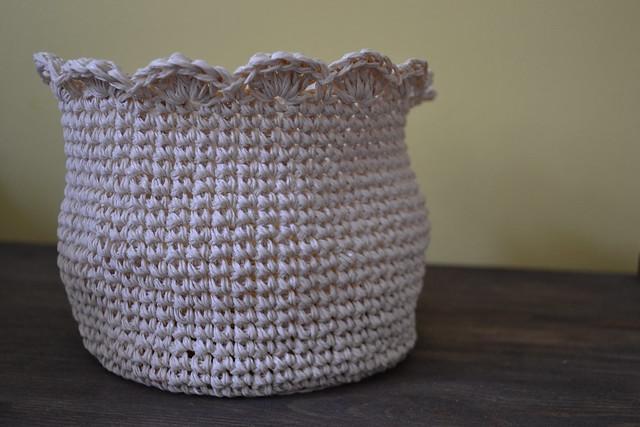 Corbeille crochet