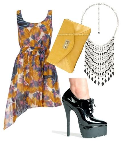 spring fashion floral dress